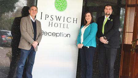 From left, Roger Barcham of ISSBA, Amanda Ankin of Suffolk Chamber and Rameth Kurdi from the Ipswi