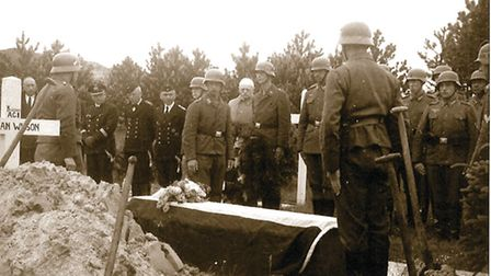 Downed pilot Michael Ryan was given full military honours by Nazi soldiers stationed on the Dutch is