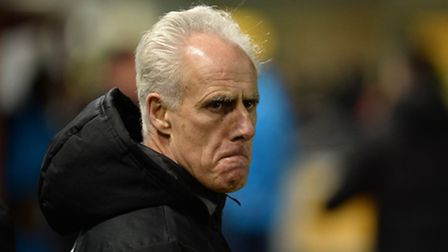 An unhappy Mick McCarthy at Sincil Bank after losing to Lincoln in the FA Cup third round replay.