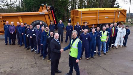 Employees at Richard Western Ltd near Framlingham have been studying for a Business Improvements NVQ