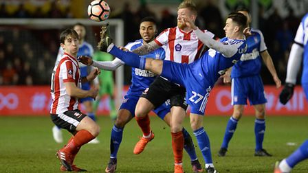 Town battle it out at Lincoln City