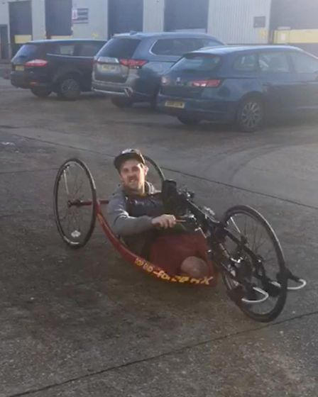 Shaun Whiter, who, following a serious car accident, had both his legs amputated.