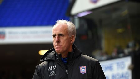 Ipswich Manager Mick McCarthy at Portman Road for the FA Cup match with Lincoln City