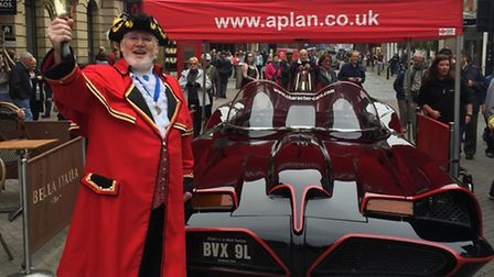 The 1966 Batmobile at a previous A-Plan Insurance opening. The iconic vehicle will feature in the la