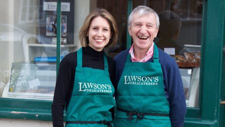 Clare Jackson and John Omerod, the new owners of Lawson's in Aldeburgh.
