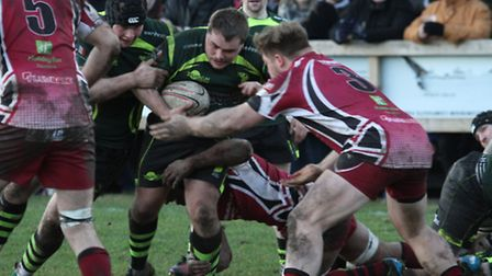Bury's Dave Coutts in action last week against Taunton. Photo: SHAWN PEARCE