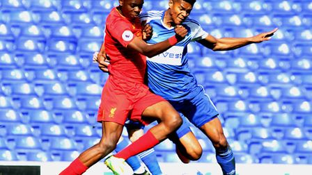 Jordan Spence, pictured during his trial at Ipswich Town last September. Photo: JAMES AGER