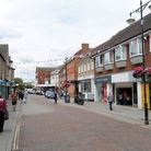 The High Street in Haverhill.