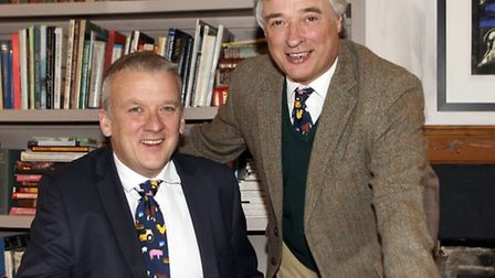 Anglia Farmers chairman Nigel Savory, with Jon Duffy, left, who has been appointed as group chief ex