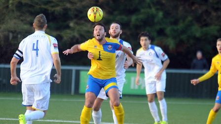 AFC Sudbury entertain Lowestoft Town in an entertaining 1 - 1 draw on Bank Holiday Monday. James Ba