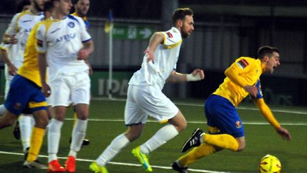AFC Sudbury entertain Lowestoft Town in an entertaining 1 - 1 draw on Bank Holiday Monday. Craig Pa