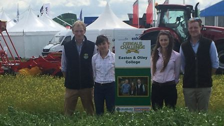 The Easton and Otley College Cereals team who came second in 2016 during this national farming compe