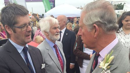 Easton and Otley principal David Henley meeting HRH The Prince of Wales earlier this year.