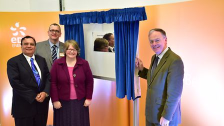 Official opening of the �200million Dry Fuel Storage facility at Sizewell B, where they will keep al