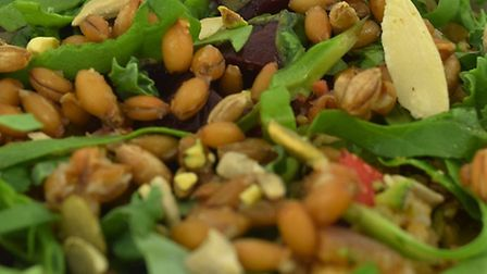 WholeSoft Sprouted in mixed leaf salad.