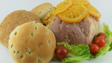 Edme's naked barley rolls with gammon.
