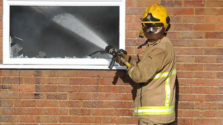 Suffolk firefighters were called to Timworth Green yesterday (stock photo)