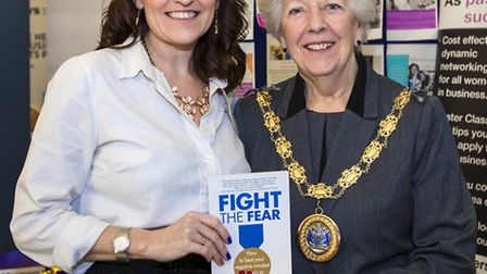 Mandie Holgate and the mayor of Chelmsford, Patricia Hughes. Photo: Paul Starr