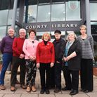 Trustees of the Friends of Halesworth County Library pictured last year. Mike Stephens, David Olds,