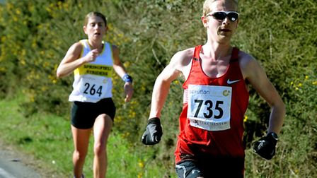 Craig Fiddaman, who won the men's race at the 53-12 League meeting at Wherstead