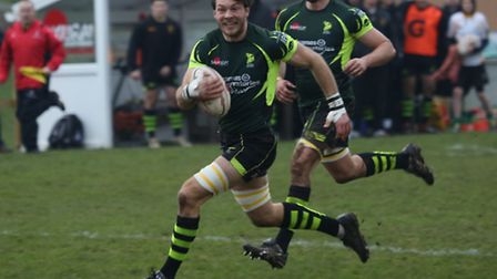 Matt Edison, who will return to the Bury St Edmunds line-up at No. 8 against Henley Hawks
