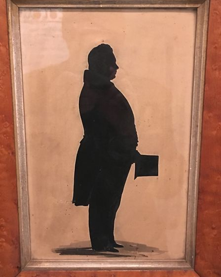 Victorian silhouettes (1830 to 1840): Depict Colchester wine merchant Edward Sallows...