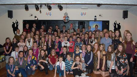 The swimmers from Lowestoft and Outlon Broad Swimming Club enjoying their annual awards event.