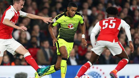 Dominic Samuel impressed for Reading in their EFL Cup defeat at Arsenal earlier this season