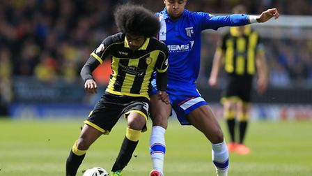 Dominic Samuel (left) enjoyed his loan spell at Gillingham after injury