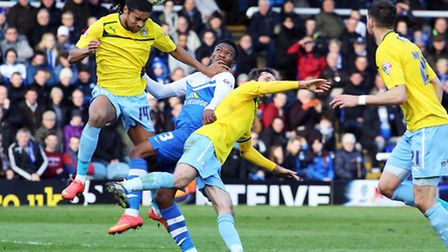 Dominic Samuel (winning a header) was prolific during his loan spell at Coventry City