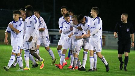 An Ipswich Town youth team in action. Picture: Steve Wood