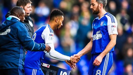 Grant Ward replaces the injured Cole Skuse in the first half of last Saturday's 2-2 home draw with R