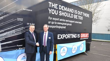 Stuart Judge, managing director of Crittall Windowns, left, with John Tingle, trade team manager eas
