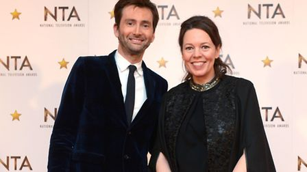Could this be a portrait of two Doctors? David Tennant and Olivia Colman at the 2015 National Televi