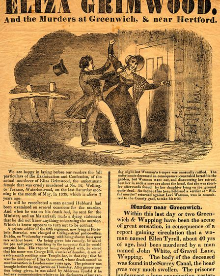 A handbill announcing Private Hill's confession - one of the red herrings that dogged the muder hunt