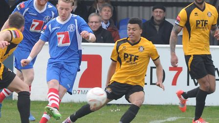 Conor Hubble, during his first spell at Leiston