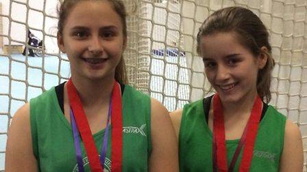 The Colchester Harriers duo of Olivia Simon and Madeleine Claydon, who won silver and bronze respect