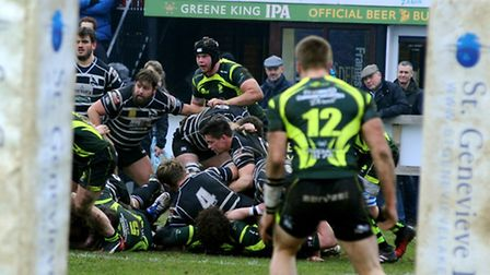 Action from Bury St Edmunds' defeat to leaders Chinnor last Saturday. Bury are away at Redingensians