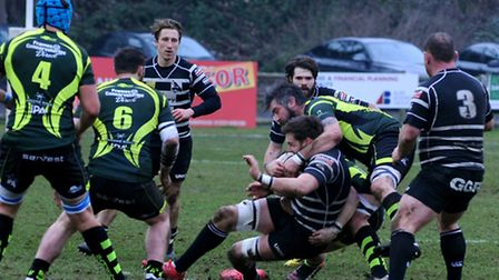 Bury St Edmunds, stopping a Chinnor attack during last weekend's defeat, are looking to spring a sur