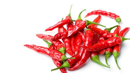 Red spicy hot chilli peppers