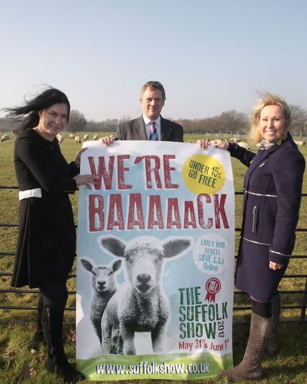 Marking the countdown. Bee Kemball, Suffolk Show director, with Brigit Parker, marketing manager and