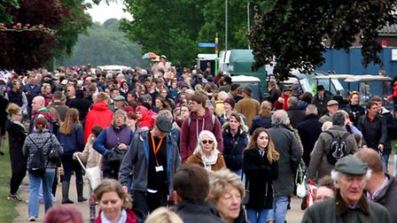 Large crowds turned out for the second day of the Suffolk show last year. Picture: SIMON PARKER