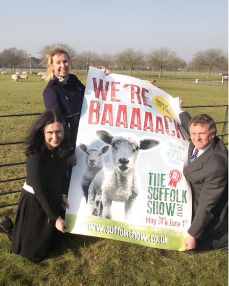 The Suffolk Show is being held on May 31 and June 1. (L-R) Show director Bee Kemball, marketing mana