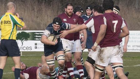 Henry Cowling on the carry for Sudbury