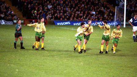 Mark Bowen was the goal scorer for Norwich City in the derby in December '93 which ended 2-1 to Town