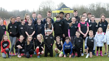 Colchester & Tendring AC's big squad at the final 53-12 League meeting at Great Notley.