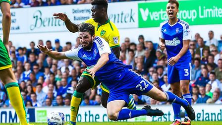 Ipswich Town once again face East Anglian rivals Norwich City this weekend. Picture: Steve Waller
