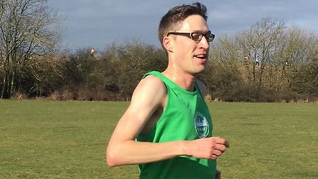 Angus Holford, of Colchester Harriers, who was an emphatic winner of the final 53-12 race at Great N