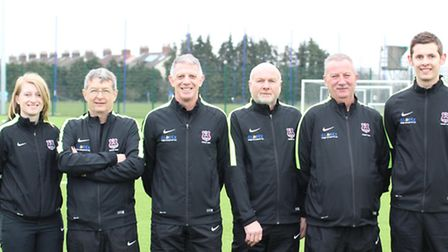 Some of the Referee Academy coaches Mary Harmer, Chris Dale, Paul Quick, Trevor Pollard, Andy Wildin