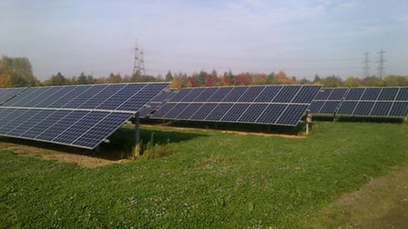 William Notcutt received an award from the Energy Now Expo for best solar scheme.